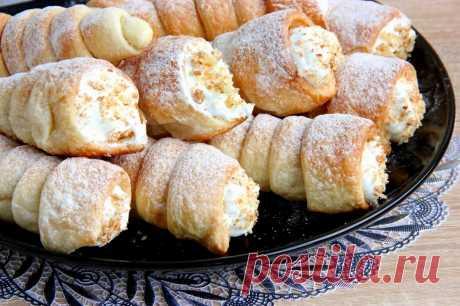 Пирожные трубочки с заварным кремом рецепт с фото пошагово - 1000.menu
