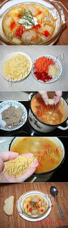 Хорошая кухня - суп с фрикадельками. Кулинарная книга рецептов. Салаты, выпечка.