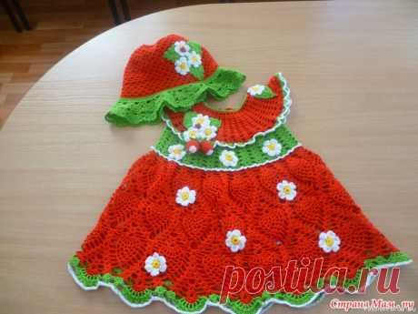 Мои вязалки. Платье для малышки | Детская одежда крючком. Схемы