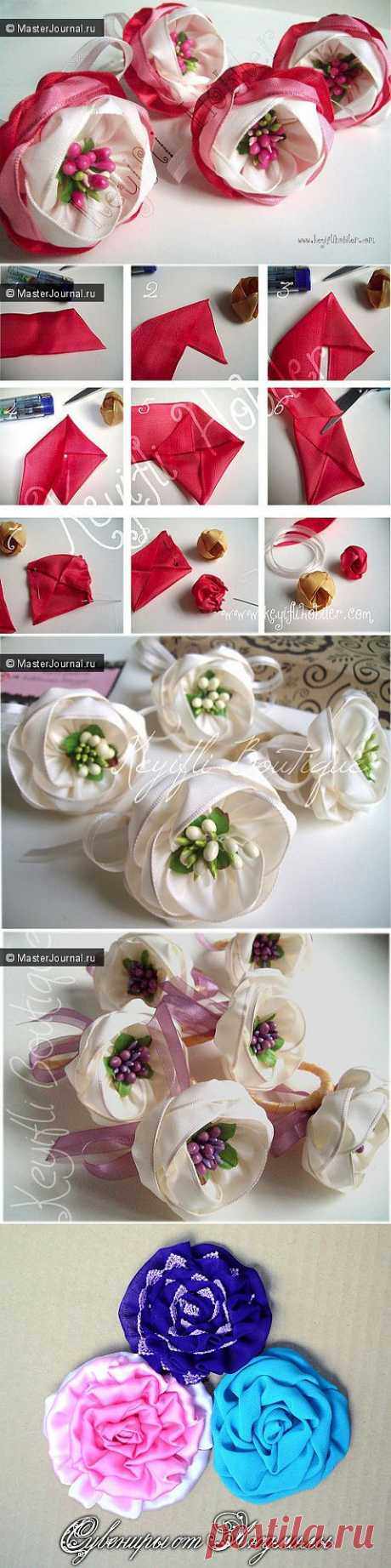 (+1) сообщ - Красивые и нежные цветы из лент | СВОИМИ РУКАМИ