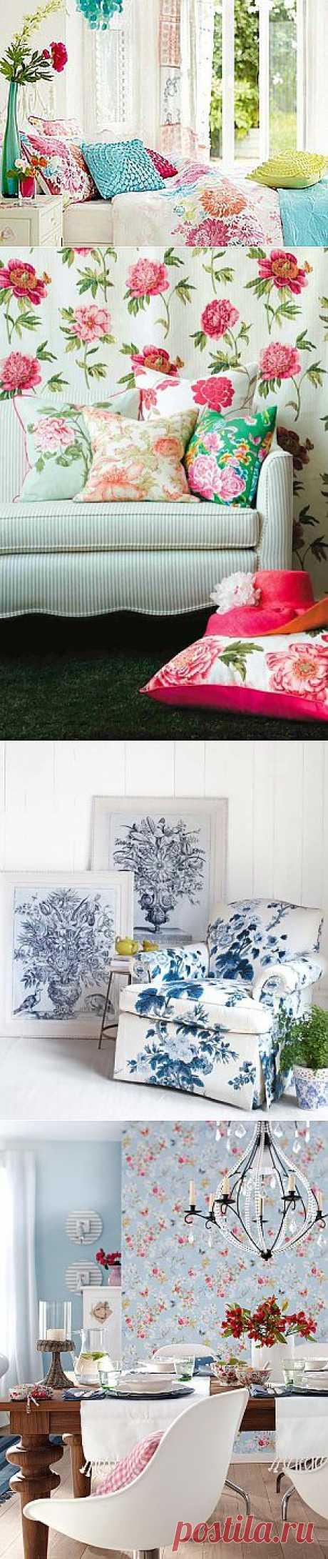 Цветочные мотивы в интерьере - Ярмарка Мастеров - ручная работа, handmade