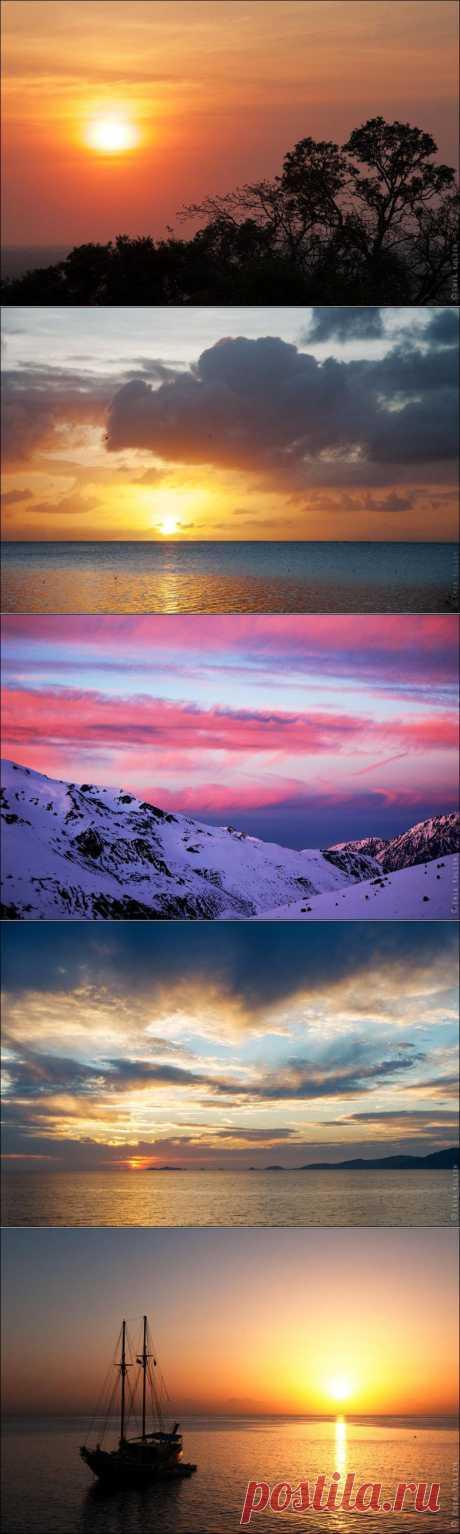 Удивительные закаты планеты Земля / Всё самое лучшее из интернета
