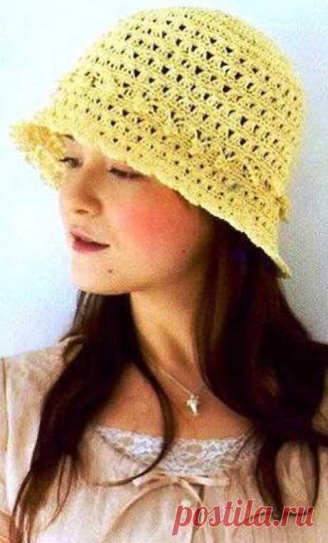 Летняя шляпа крючком | Рукоделие и вязание