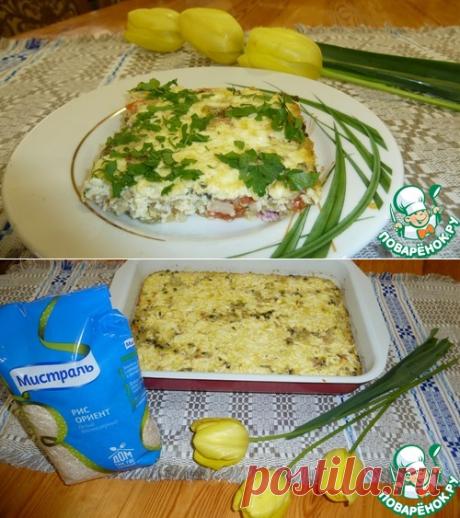 Рисовая запеканка с зелёным луком - кулинарный рецепт - Антрекот - большая кулинарная книга