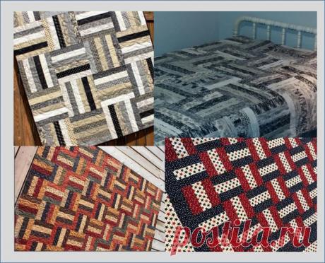 Простые узоры из цветных полос в пошиве одеял Rail Fence в стиле пэчворк - переделка часть 3 | МНЕ ИНТЕРЕСНО | Яндекс Дзен
