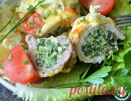 Мясные рулетики со шпинатом и яйцом – кулинарный рецепт
