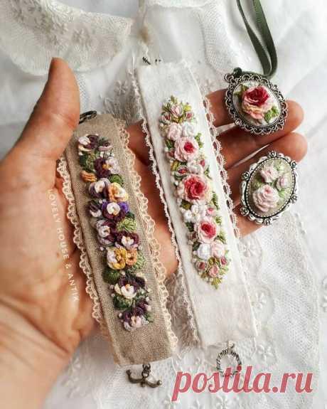 9 идей для создания идеального браслета, украшенного вышивкой | НЕСКУЧНАЯ ВЫШИВКА | Яндекс Дзен