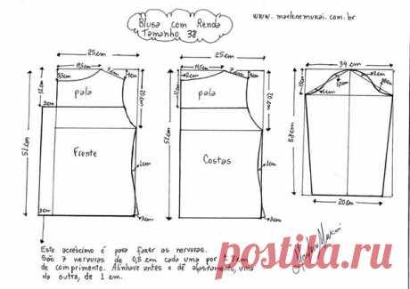 Выкройка летней блузки размеры 38-50 (ШИТЬЕ И КРОЙ) | Журнал Вдохновение Рукодельницы