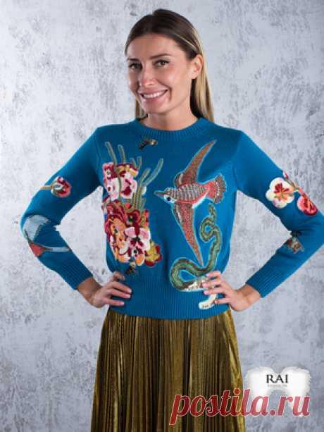 """Модные свитера: узоры, вышивка и другие тренды сезона! В этом сезоне прохладные вечера Вы можете встретить в весьма уютных и необычных свитерах. Вышивка, негабаритные размеры, торчащие нити, толстая пряжа для их создания - все это тренды этого сезона!Дизайнеры отдали предпочтение """"ажурным"""", дырчатым в..."""