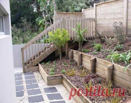 Подпорные стенки для участка со склоном