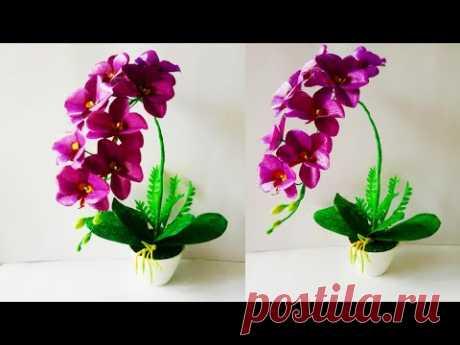 Как сделать лунные орхидеи из пластика кракле // Урок по пластиковым орхидеям