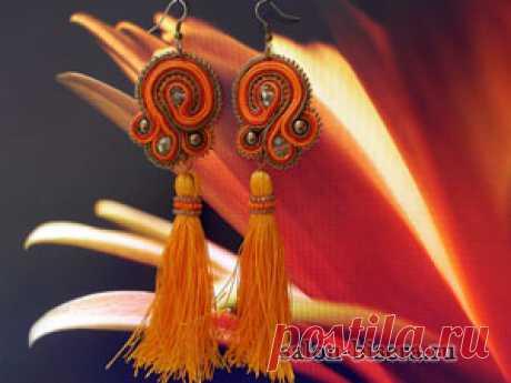 Мастер-класс по изготовлению сутажных серёжек «Оранжевое настроение» | конкурс МК 2