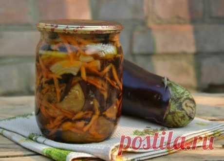 Маринованные баклажаны с чесноком и морковью. Вкусно, пальчики оближешь | Веселая кухарка | Яндекс Дзен