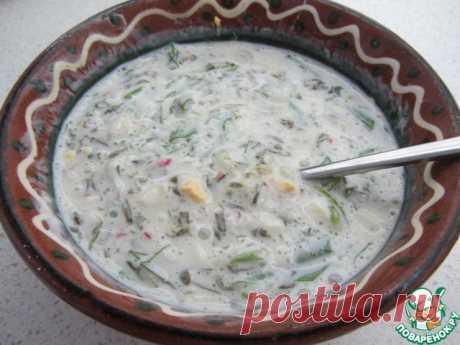 Белый холодный борщ (без свеклы со щавелем) - по рецепту литовской поваренной книги
