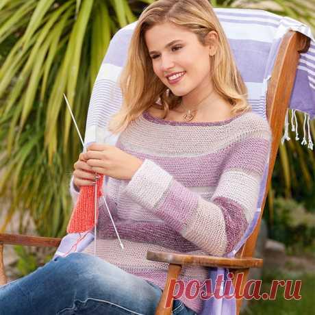Женские джемпера платочной вязкой для начинающих спицами – 3 схемы вязания с описанием
