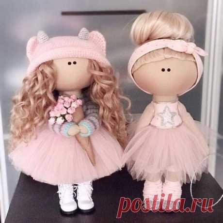 Как создать интерьерных текстильных куколок