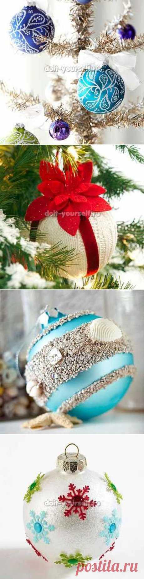 Как сделать новогодние игрушки своими руками для елки
