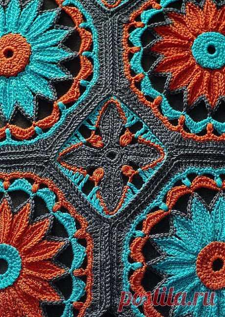 Crocheted Daisy Afghan pattern by kraftling