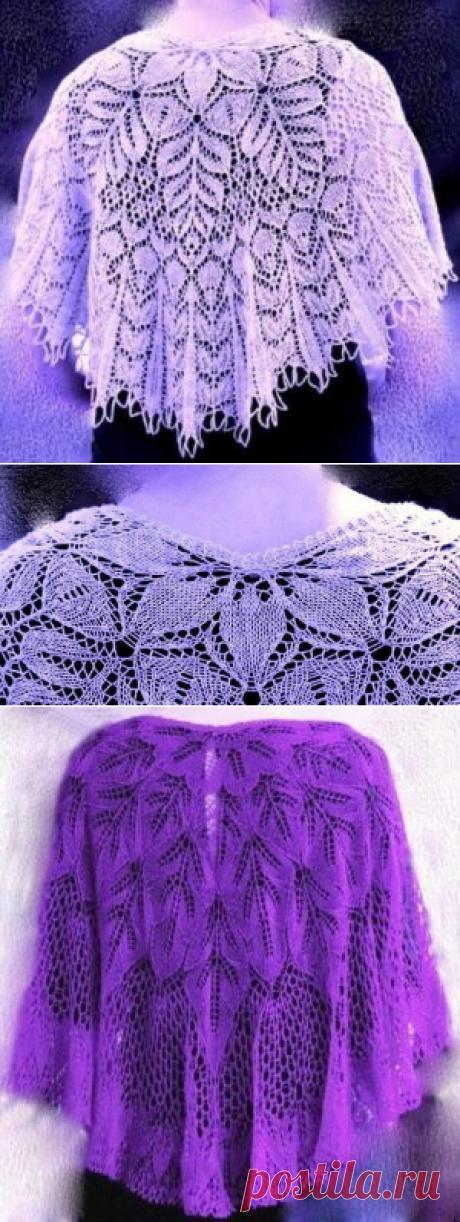 Две нежные шали спицами - САМОБРАНОЧКА рукодельницам, мастерицам