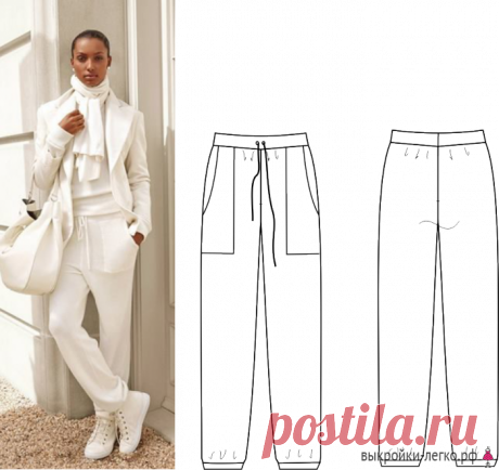 How to sew trousers | Ready patterns and lessons of construction on Выкройки-Легко.рф