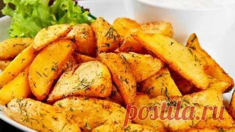 Чесночная картошка в духовке - Такая картошечка украсит любой семейный обед! Все будут в полном восторге, очень вкусно! Аромат чеснока, хрустящая корочка на картошечке - просто объедение! Отличная