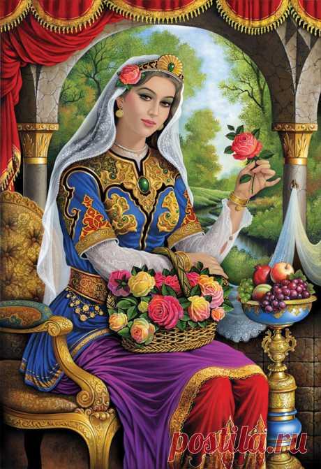 Оригинал схемы вышивки «восточная красота» - Вышивка крестом