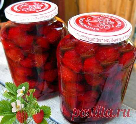 Strawberry jam without cooking of berries turns out so FRAGRANT, very similar to FRESH STRAWBERRY!