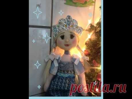 Снегурочка своими руками. Часть 3. Платье, украшение. МК