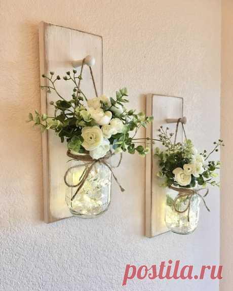 Настенные кашпо с чудесными цветами для дома 🏘