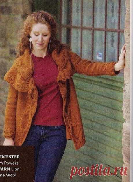 Вязание спицами Пальто