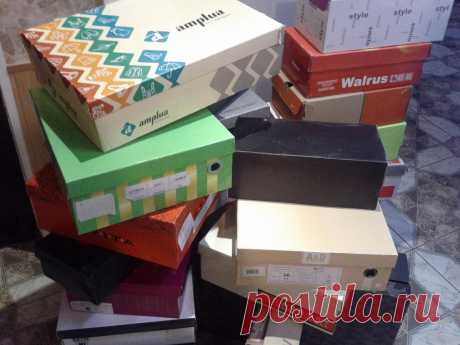 Что можно сделать с обувными коробками. Идеи для дома. Идеи для дачи. Для чего еще пригодны коробки из-под обуви и бытовой техники.