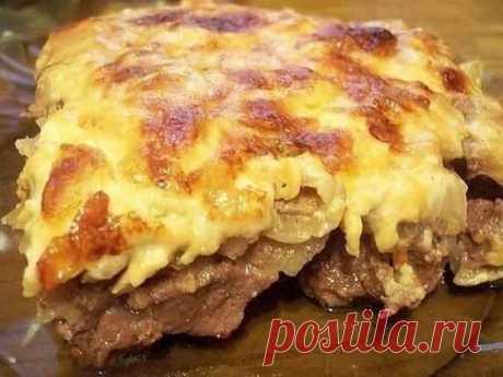 Как приготовить запеченое мясо под молочным соусом Бешамель