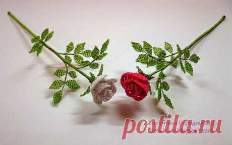 Схема розы из бисера: плетение маленького бутона своими руками с мк и видео