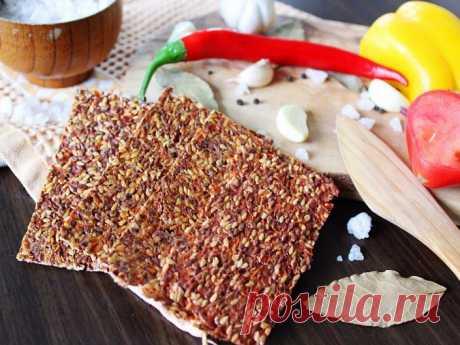 Сыроедческие хлебцы льняные