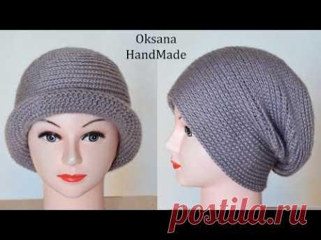 Шапка крючком. Разные способы ношения. Crochet hat pattern