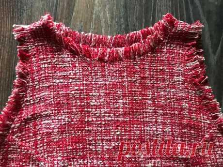 Декоративная обработка срезов ткани в стиле Шанель: «открытый» способ — Мастер-классы на BurdaStyle.ru