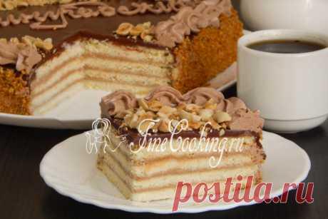 La torta De Leningrado Hoy comparto de nuevo con usted la receta de la torta de casa - preparamos De Leningrado por el GOST.