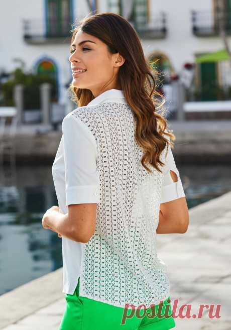 Блузка цвет: белый арт: 1026003047 купить в Интернет магазине Quelle за 1999.00 руб - с доставкой по Москве и России