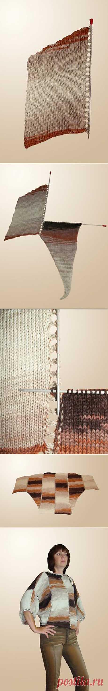 Мастер-класс по работе с меланжевой пряжей от Анастасии Ермолаевой.