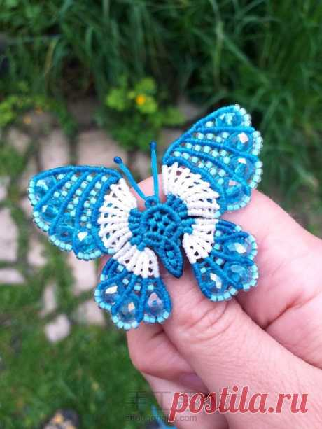 Бабочка в технике макраме