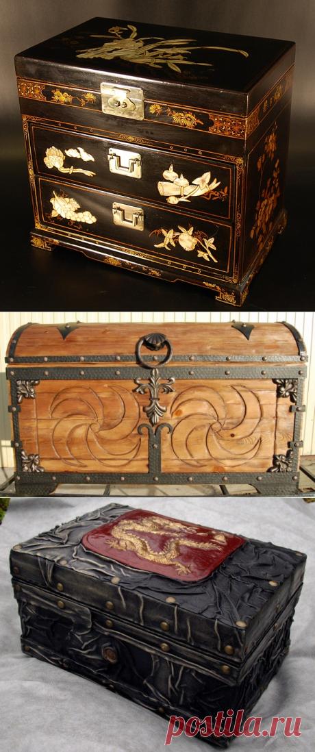 Декоративные элементы шкатулок под старину