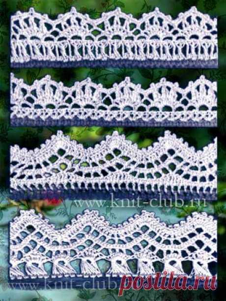 Schemes of knitting of an openwork border hook