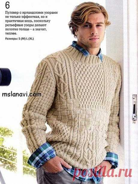 Мужской пуловер от Bergere De France.