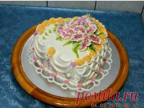 ADORNAMIENTO DE LA TORTA - LA TORTA POR EL DÍA DE VALENTÍN, LA TORTA DE BODA, cake decoration