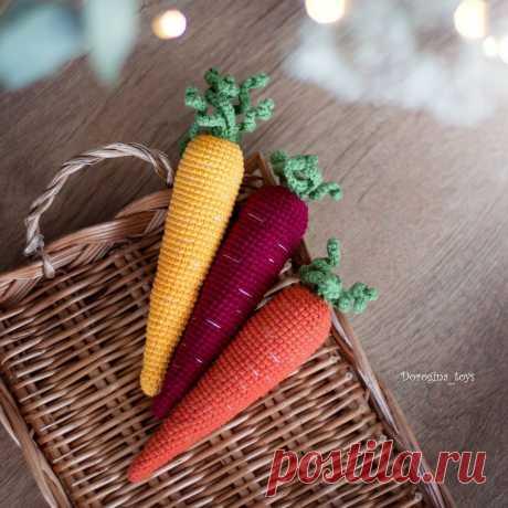 Бесплатная СХЕМА вязания моркови крючком #схемыамигуруми #амигуруми #вязаныеигрушки #вязанаяморковь #морковькрючком #amigurumipattern #crochetecarrot #amigurumicarrot