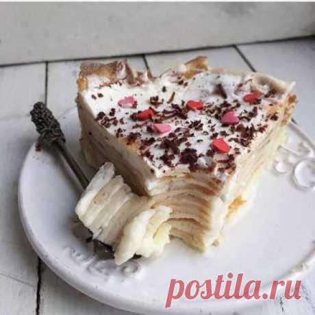 Банановый блинный тортик — Фактор Вкуса