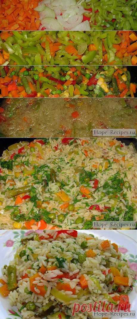 Ризотто с овощами по-мексикански © Кулинарный блог #Рецепты Надежды