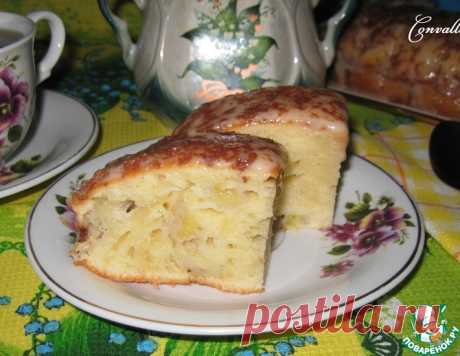 Банановый пирог со сметанным кремом – кулинарный рецепт
