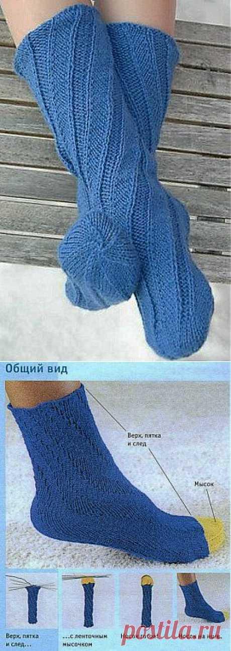 Вязание:спиральные носки.