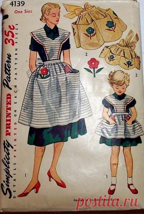 Кухонный фартук - современная вещь или забытый вид одежды? Примеры, выкройки, идеи! |